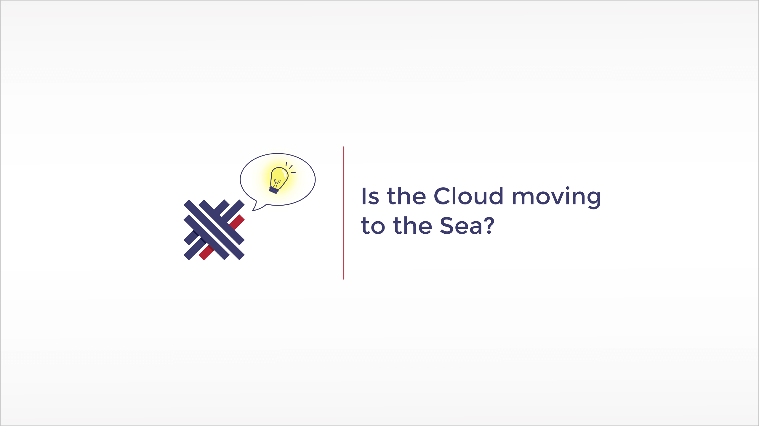 Is the cloud moving to the sea?
